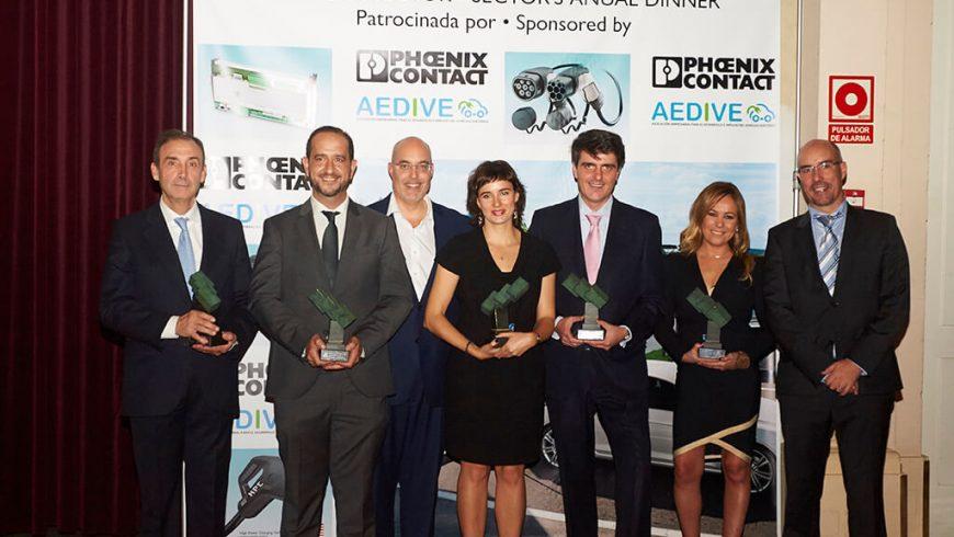 AEDIVE entrega sus premios anuales a la movilidad eléctrica