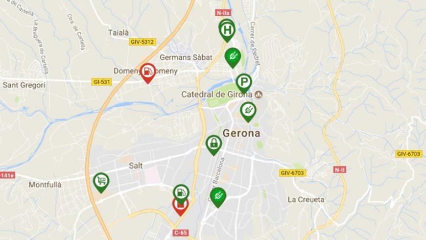 Girona conecta sus puntos de recarga con Electromaps
