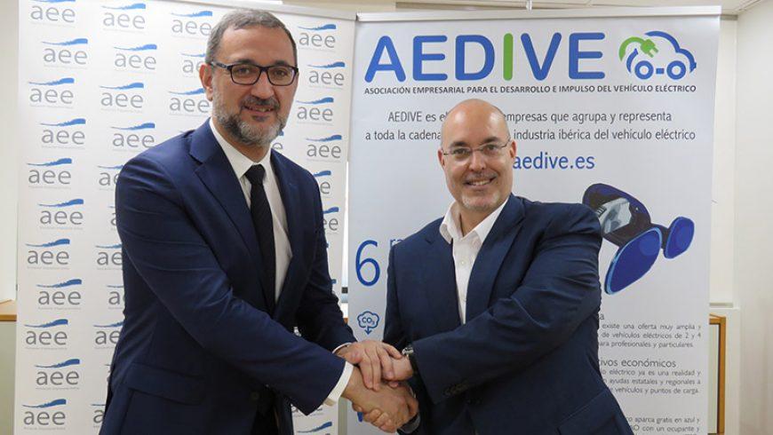 AEDIVE y AEE firman un convenio de colaboración para impulsar acciones relacionadas con el vehículo eléctrico y la energía eólica en España