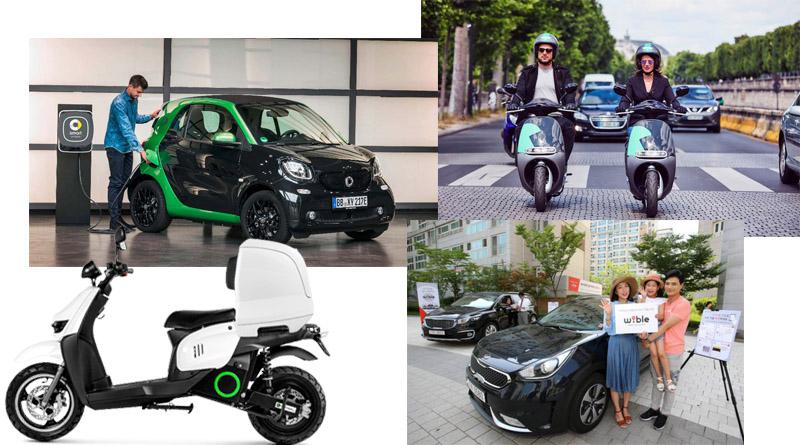 Los nuevos sharing de moto y coche en Madrid disparan las ventas de vehículos eléctricos en España