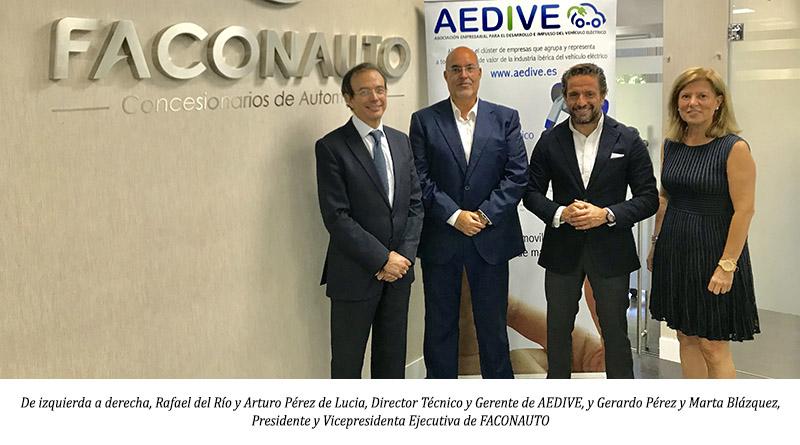 Faconauto y Aedive se alían para el impulso de la movilidad eléctrica en los concesionarios oficiales