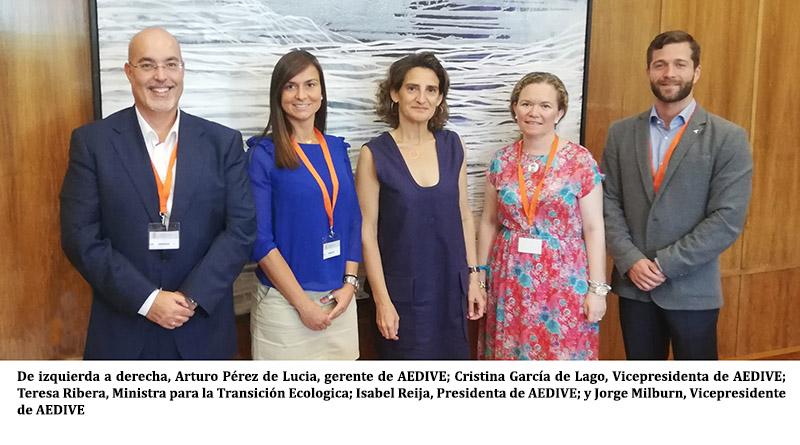 AEDIVE traslada a la Ministra Teresa Ribera las claves para acelerar la movilidad eléctrica en España