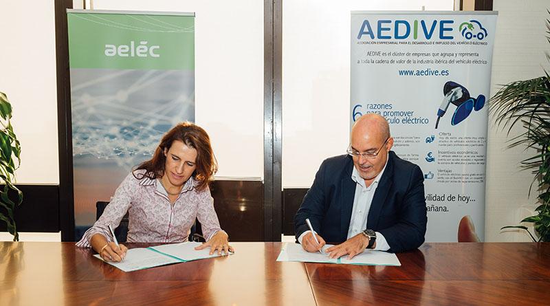 AEDIVE y AELÉC se unen para colaborar en el impulso de la movilidad eléctrica