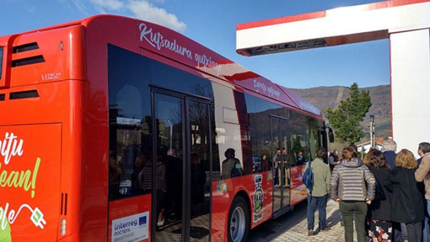 En marcha la primera línea de autobuses eléctricos de Irún, desarrollados por Vectia