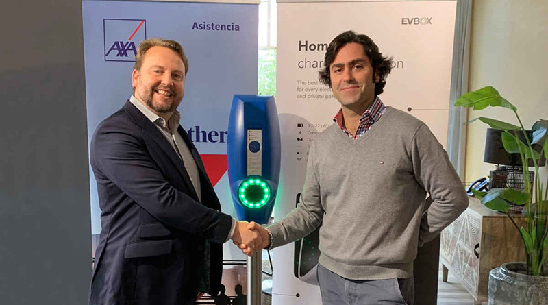 AXA Partners Iberia se alía con EVBox en Iberia y lanza un servicio de carga 'Vehicle to Vehicle' en Portugal