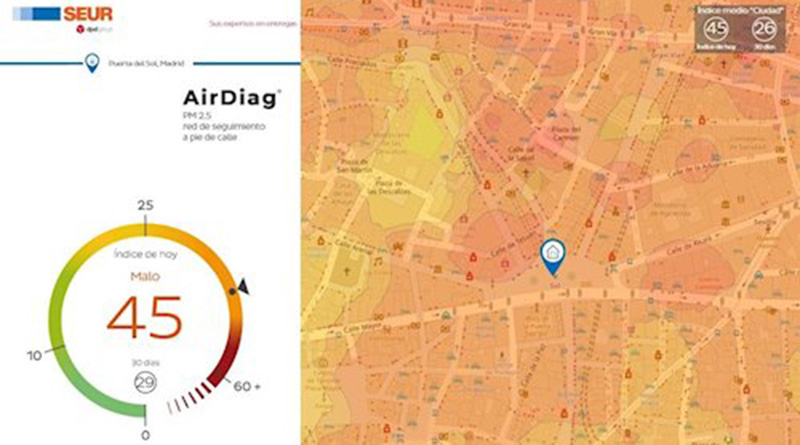 SEUR lanza un programa de medición de la calidad del aire en Madrid