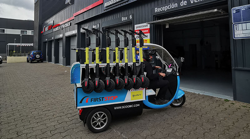 First Stop, la primera red de talleres que ofrece el servicio de mantenimiento integral para patinetes eléctricos
