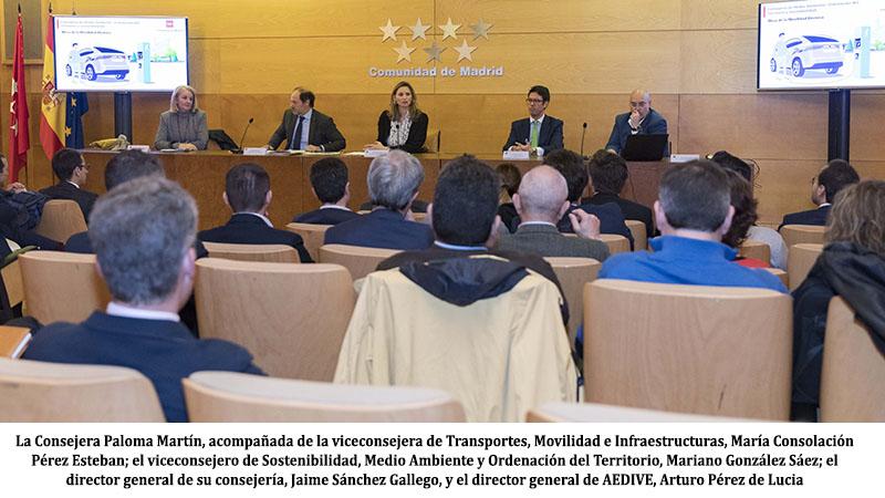 La Comunidad de Madrid activa la Mesa para el fomento de la movilidad eléctrica que secretariará AEDIVE