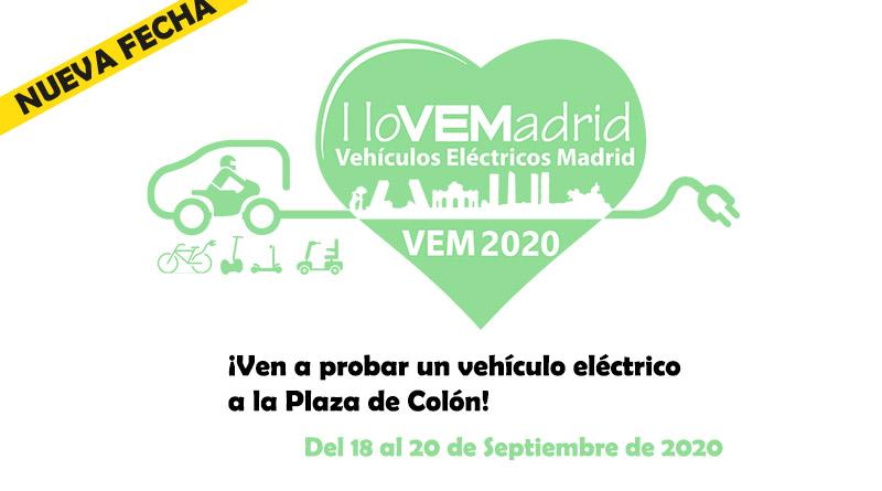 La feria VEM2020 de movilidad eléctrica se traslada al fin de semana del 18 al 20 de septiembre