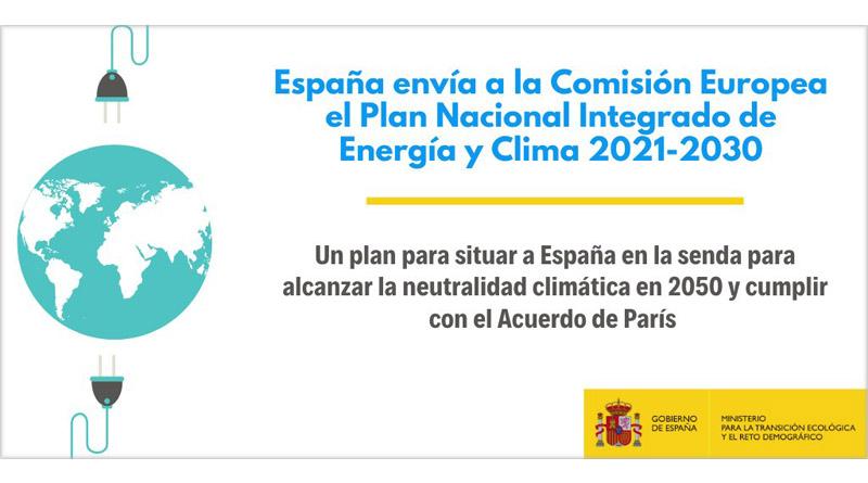 El Gobierno envía a Bruselas el Plan Nacional Integrado de Energía y Clima 2021-2030