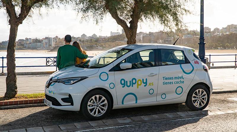 El carsharing asturiano de guppy llega a Cantabria