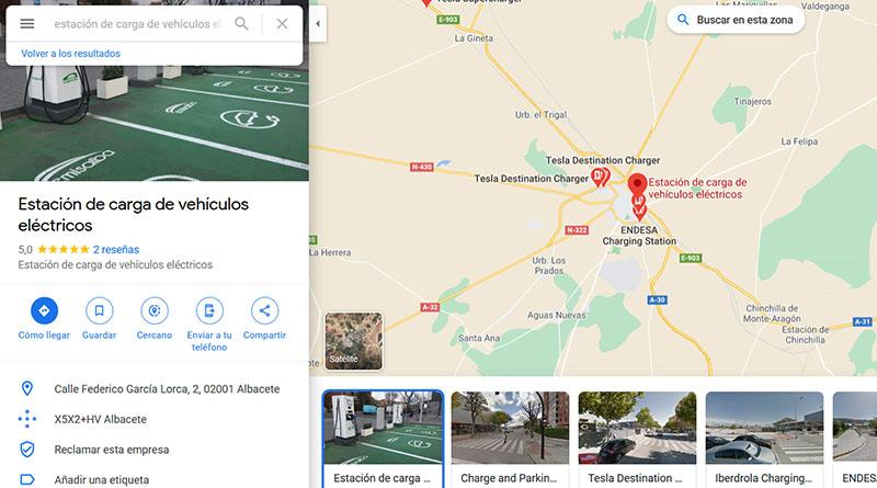 Los puntos de recarga de CARGACOCHES ya están en GOOGLE Maps