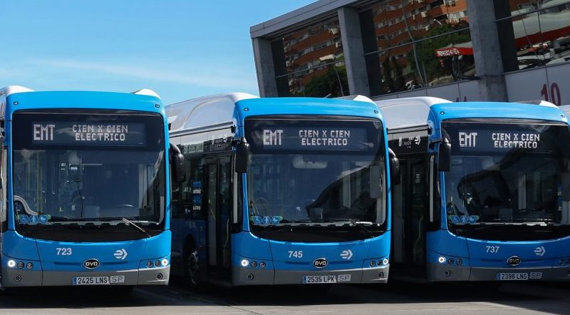 BYD inicia las entregas antes de tiempo en el mayor pedido de bus eléctrico en España