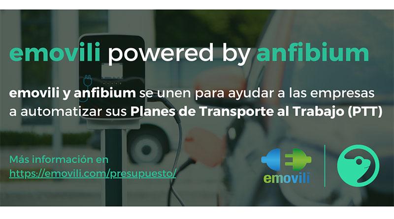 emovili y anfibium se unen para ayudar a las empresas a automatizar sus Planes de Transporte al Trabajo (PTT)