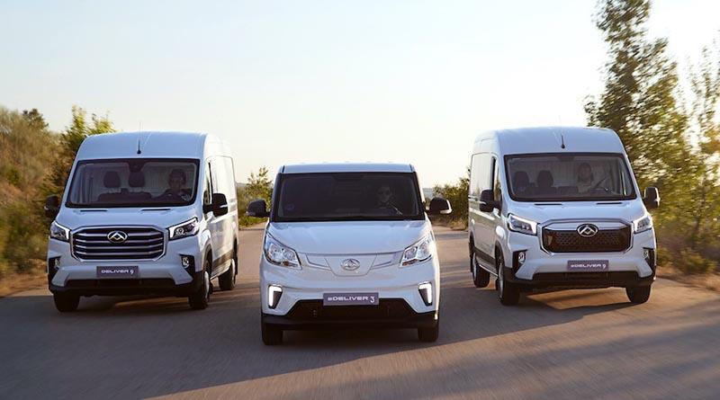 Las furgonetas eléctricas Maxus ya están disponibles en el mercado español