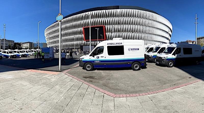 Mercedes-Benz entrega en Bilbao la mayor flota de ambulancias eléctricas de Europa