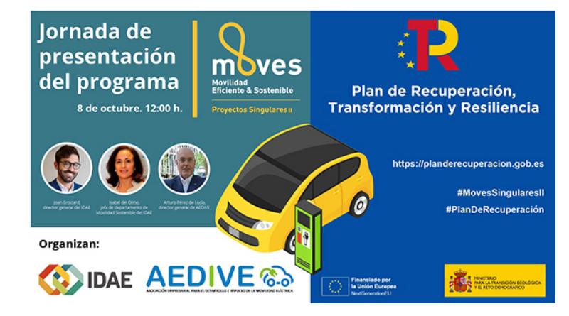 IDAE presenta el programa MOVES Singulares II para proyectos innovadores de movilidad eléctrica